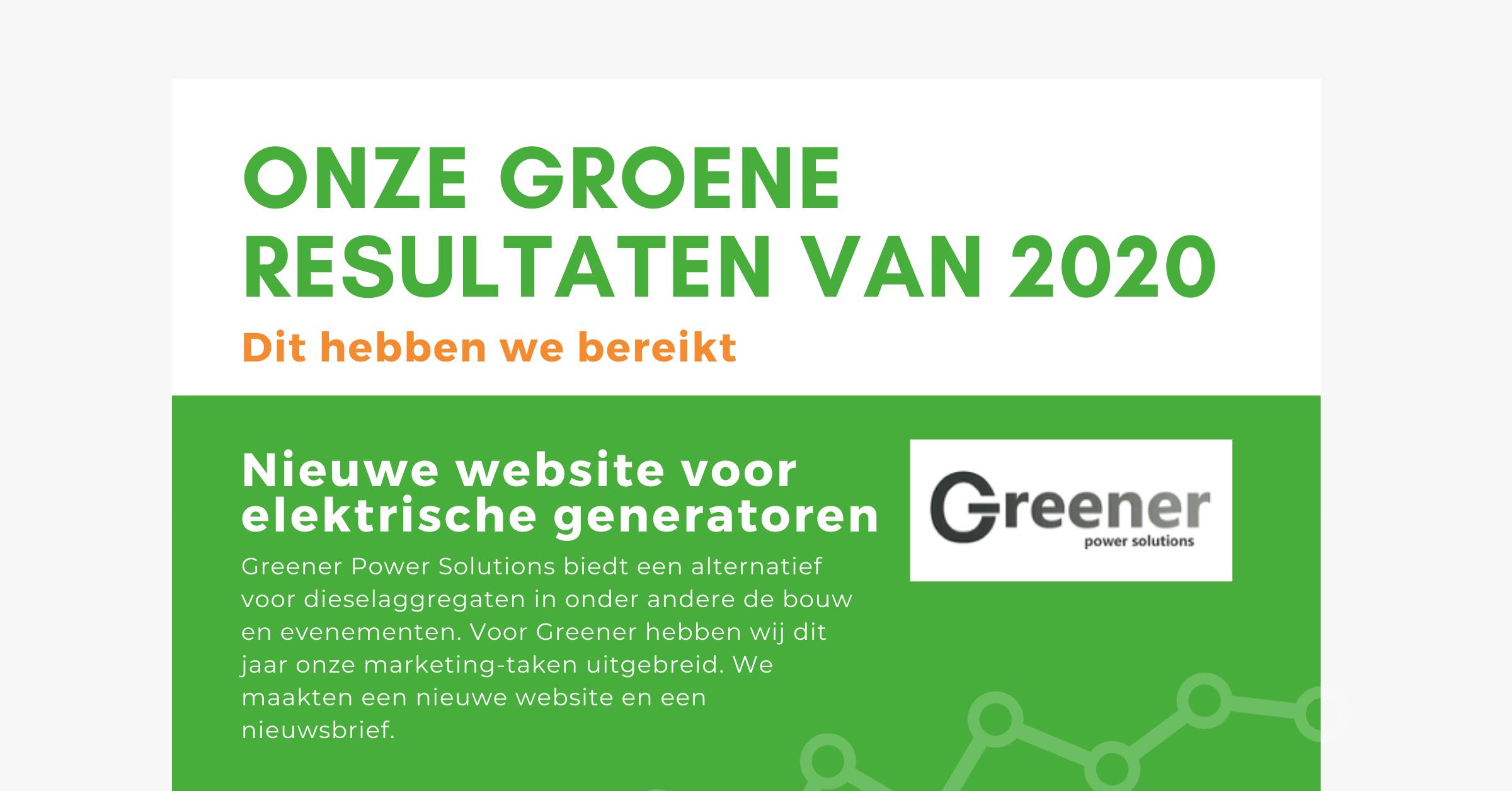 Onze groene resultaten van 2020